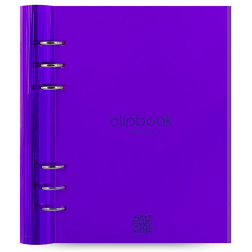 notitieboek Filofax Clipbook A5 Gummy Purple