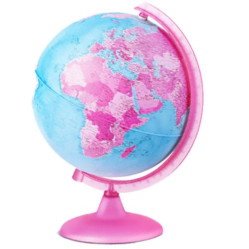 globe Tecnodidattica 25cm Pink met verlichting